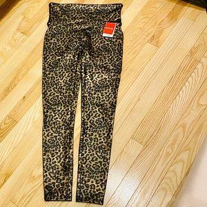 Spanx Leopard Print Faux Leather Leggings